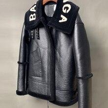 Women Real Fur Jacket Wool Pelleting Machine Simple Famous C