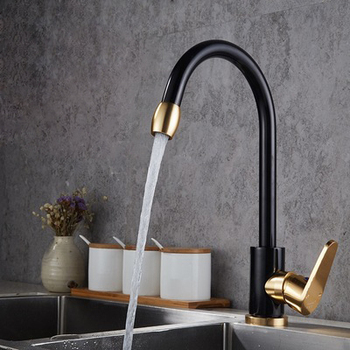 Luxury kitchen faucet kitchen sink faucet single handle multi-function black faucet