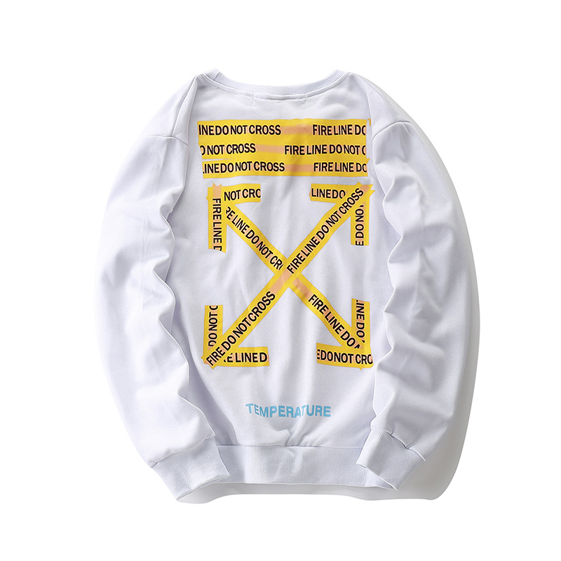 19 New Products Popular Brand Off Ow White Autumn And Winter Men And Women Couples Casual Hip Hop Loose-Fit Pullover Long-sleeve