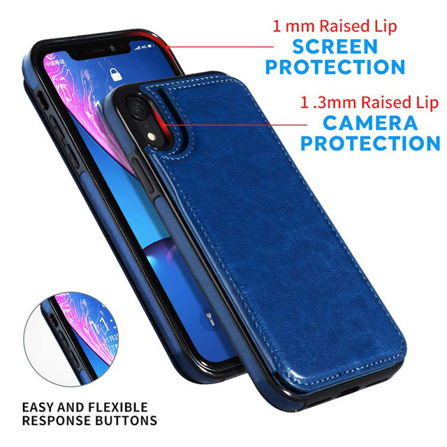 Retro PU Flip Leather Case For iPhone 12 Mini 11 Pro Max XS Multi Card Holder Phone Cases For iPhone X 6 6s 7 8 Plus SE 2 Cover 5