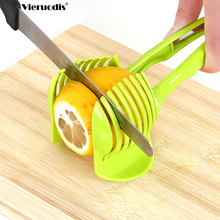 Plastic Potato Slicer Tomato Cutter Tool Shreadders Lemon Cutting Holder Cooking Tools Kitchen Accessories discount new technology carrot potato onion lemon and orange tomato slicer tomato cutter tomato cutting machine