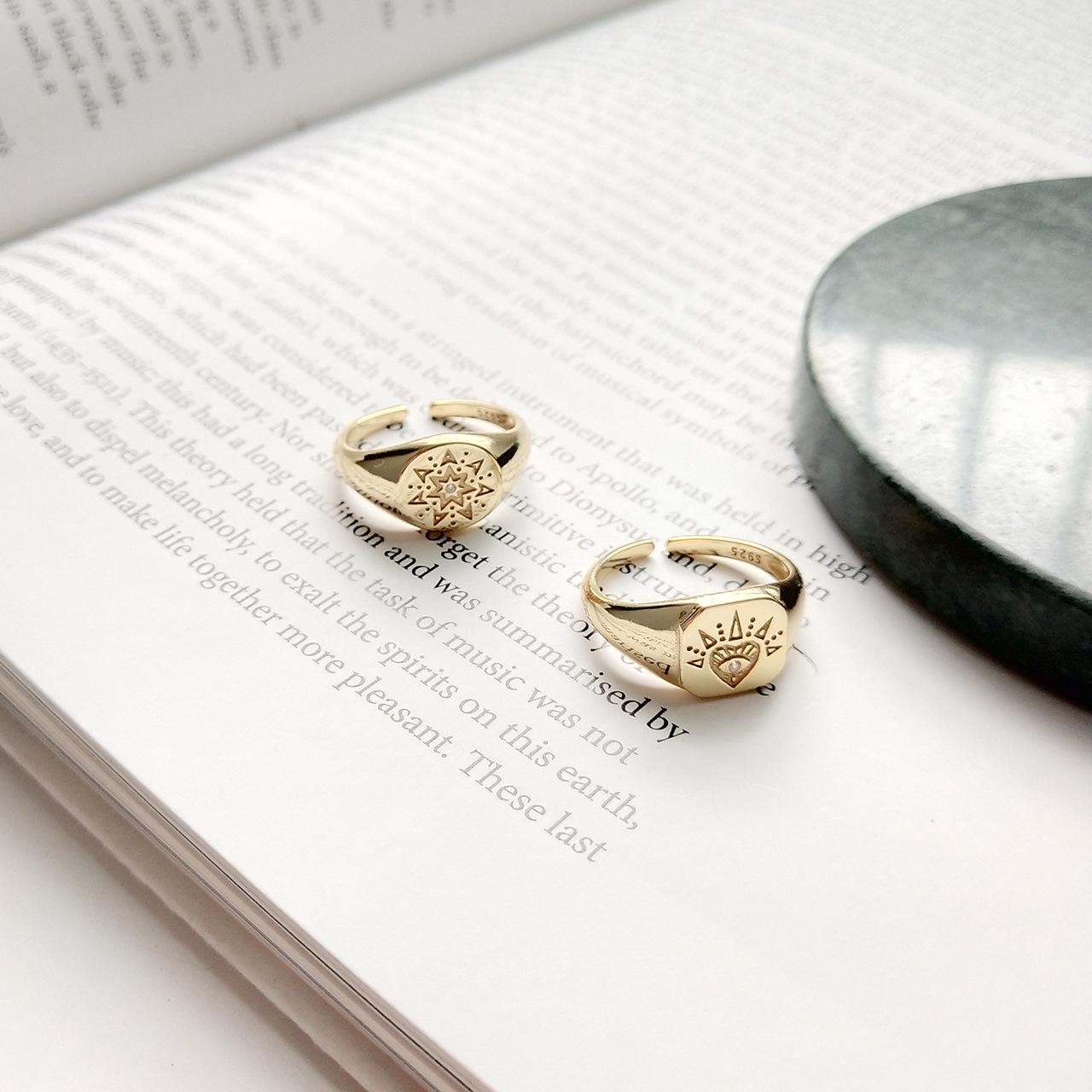 Женские винтажные Открытые Кольца leouerry из серебра 925 пробы
