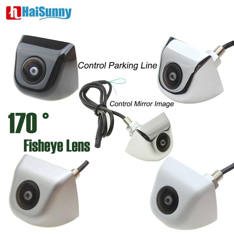 Car Fisheye Lens Rear View Camera Front 170 Degree Waterproof Reverse Camera 4 Pin No Parking Line HD Starlight Night Vision