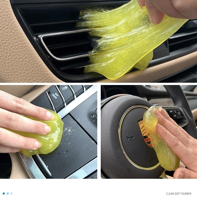 Clean Glue Gum Silica Gel Car Keyboard Dust Dirt Cleaner Cute Green Slime Practical Durable Microfiber Dust Tools Mud Gel Produc