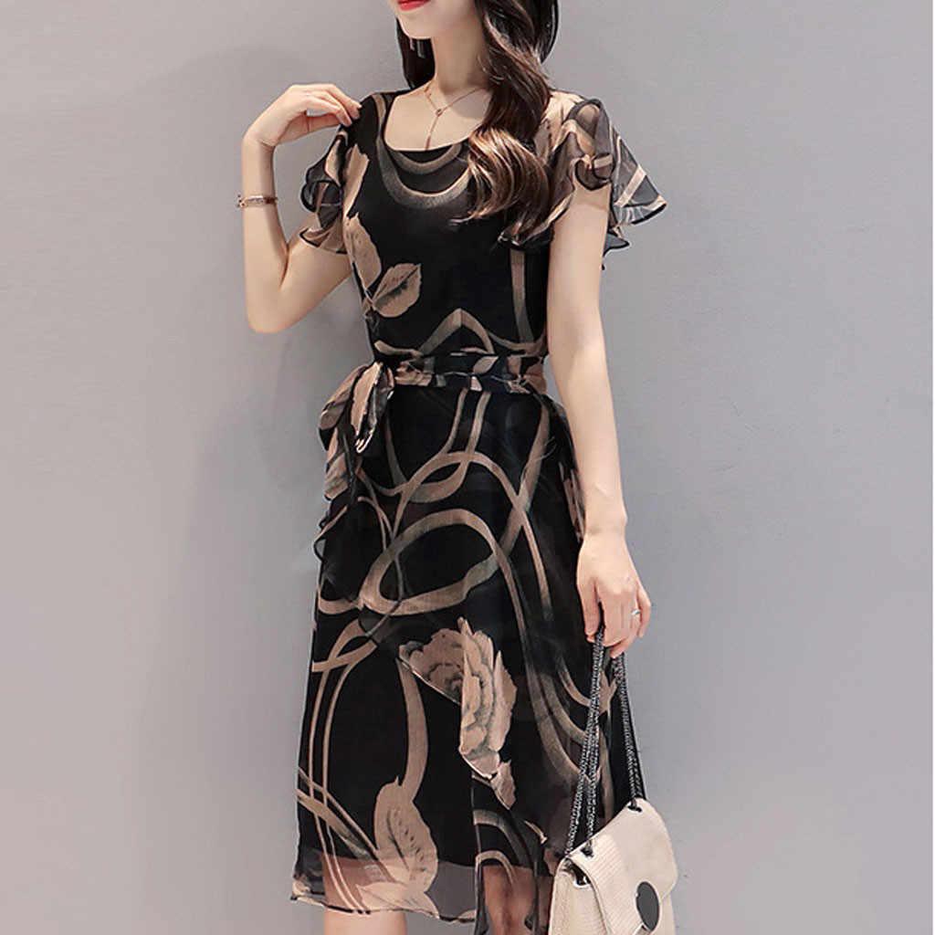 Korte Mouwen Shirt Jurk 2020 Zomer Boho Strand Jurken Vrouwen Casual Gestreepte Print A-lijn Min Party Dress Vestidos # Y30