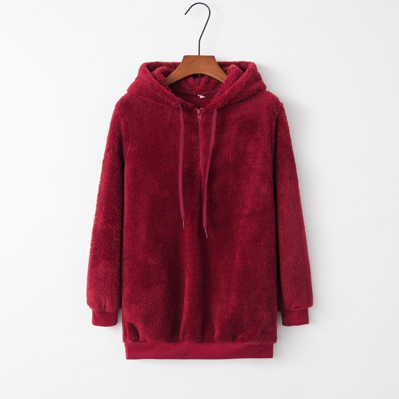 Solid Basic 2020 New Design Hot Sale Hoodies Sweatshirts Women Casual Kawaii Harajuku Sweat Girls European Tops Korean