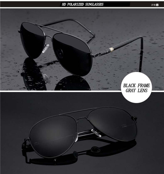 Aviation Metail Frame Quality Oversized Spring Leg Alloy Men Sunglasses Polarized Brand Design Pilot Male Sun Glasses Driving - 2