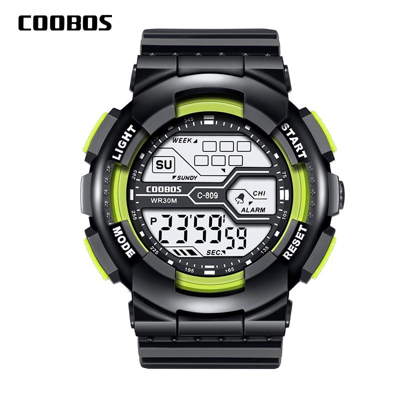 Trend Men's Sports Digital Watch Military Waterproof Mens Watches  LED Luminous WristWatch Male Casual Rubber Clock reloj hombre 1