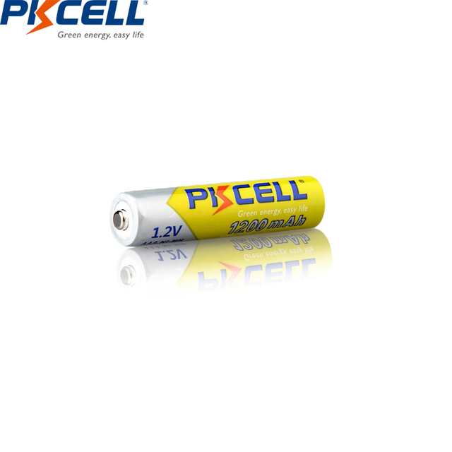 12Pcs PKCELL AAA Batteries 1200mAh 1.2V Ni-MH AAA Rechargeable Battery with 3PC AAA/AA battery box For Home TV remote control