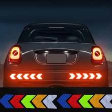 Pegatinas y calcomanías para coche, pegatina reflectante de advertencia nocturna, grande, para carrocería de motocicleta eléctrica, modificada, 12 Uds.