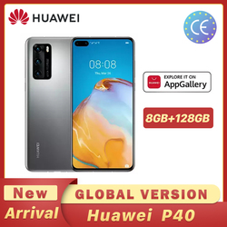 Version mondiale Huawei P40 Smartphone Kirin 990 8GB 128GB 50MP Ultra Version caméra 6.1 pouces SuperCharge NFC