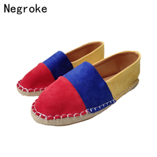 Plus Size 35-43 Women Flats Shoes 2019 New Loafers Slip on Flat Shoes Ballet Flats Suede Espadrilles Ladies Casual Zapatos Mujer