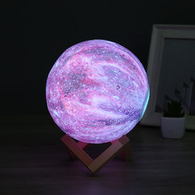 3D Printer Moon LED Ster Lamp Home Bedroom decorative Lamp Christmas New Year Smart Creative Gift bright star Decor Night lights