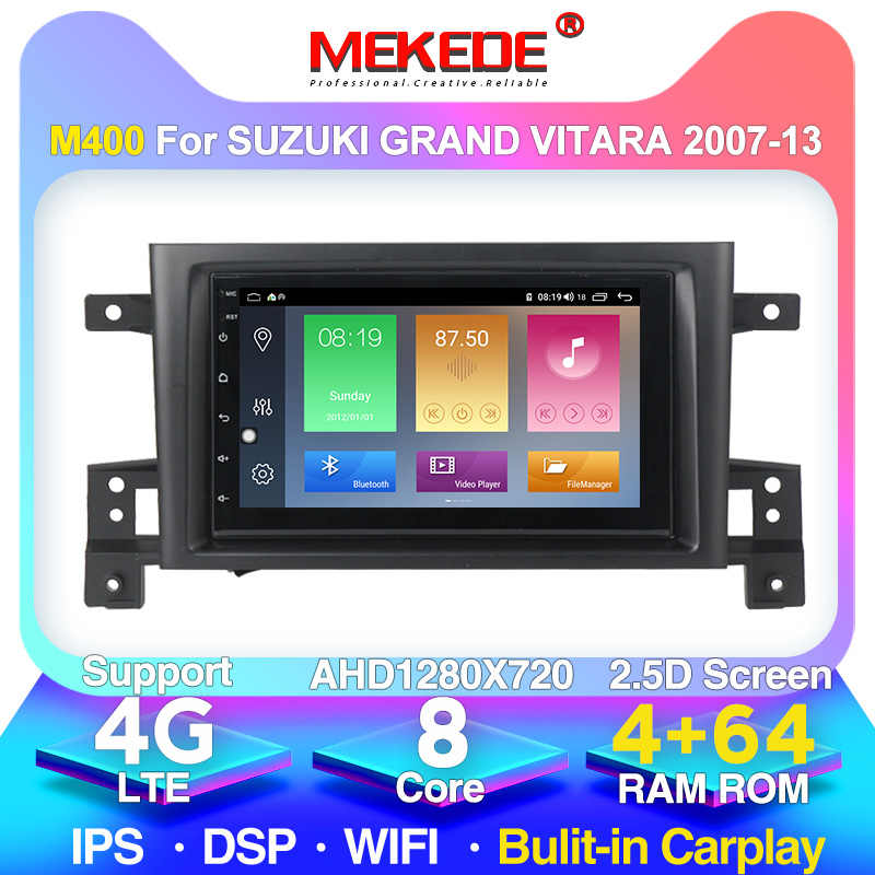 "HD 4G LTE Android 10 7 ""Head Unit için SUZUKI GRAND VITARA 2005 2006 2007 2008-2015 radyo ses araba GPS multimedya oynatıcı 2DIN"