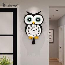 Большие акриловые декоративные настенные часы с аниме совами