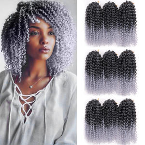 Hair-Extensions Crochet-Hair Braids Marly Curly Bounce Jamaican Afro Kinky Synthetic
