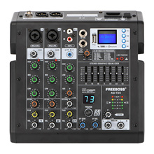 Freeboss AG-TD4 Series 4/6 Channels 99 Effects 7 Band EQ USB Play and Record Bluetooth Dj Party School Sound Audio Mixer