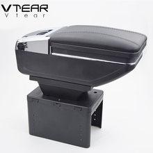 Vtear universal auto armlehne box auto interieur Leder auto-styling zentrale container Speicher inhalt box zubehör teile
