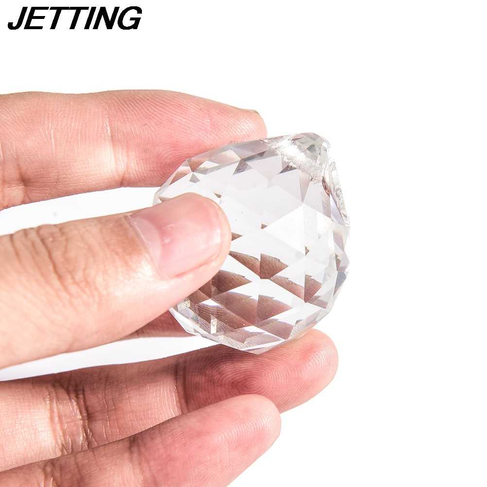 Claro 20/30/40 bola de cristal mm prisma facetado araña de cristal piezas de lámpara colgante bola atrapasoles hogar Decoración