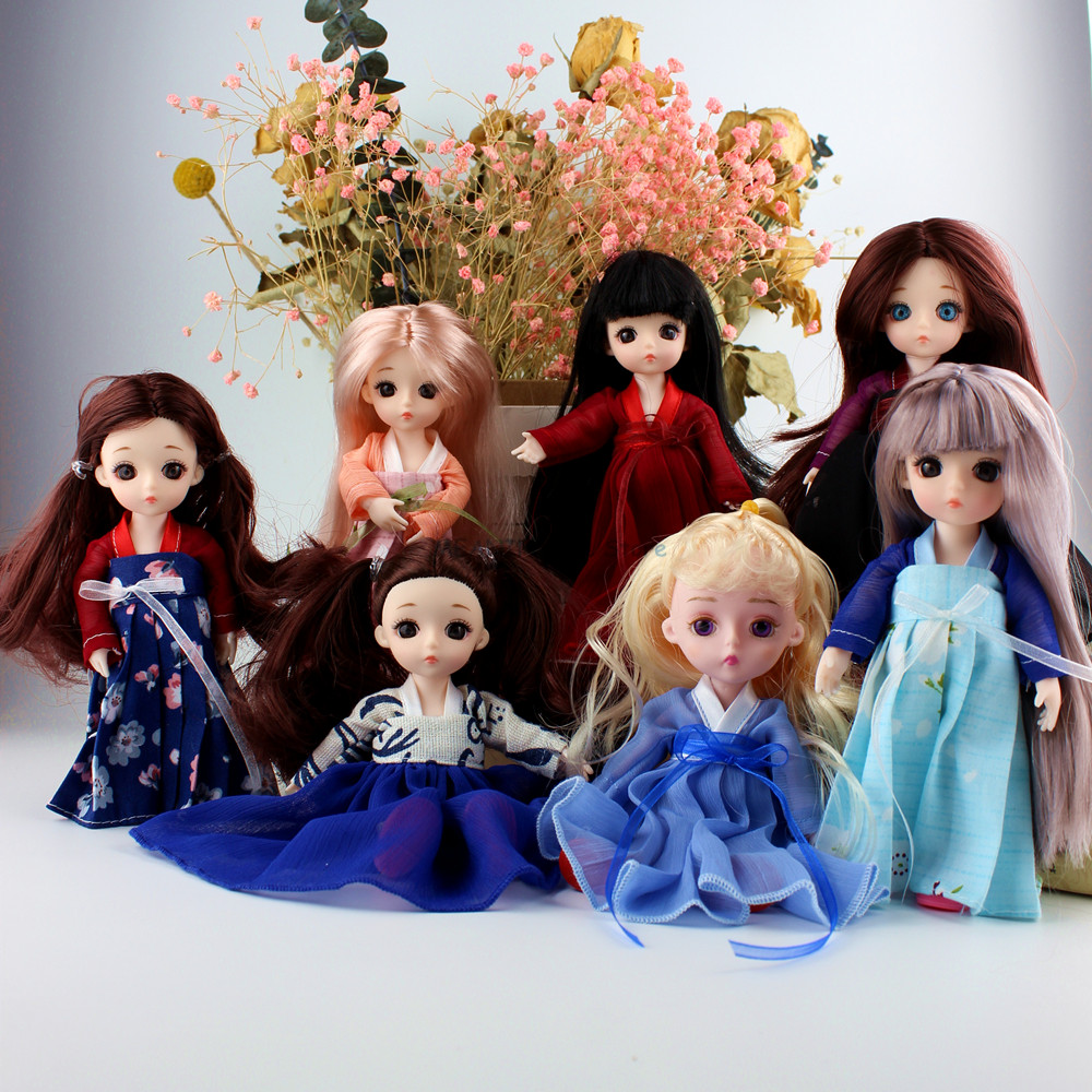 13 movable joints send DIY clothes Hanfu princess dress shoes Chinese style 15 cm 1 / 8 doll toys <font><b>BJD</b></font> fashion doll toys куклы image