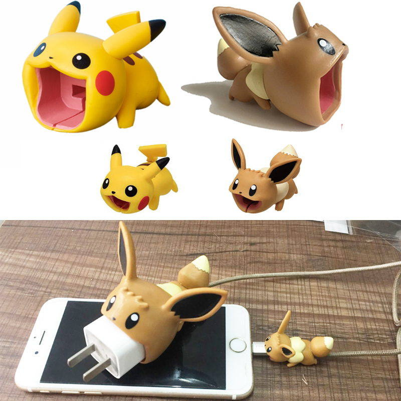 Pokemon Go Eevee USB Protective Case Big Cable Bite Cosplay Props IPhone Accessories Pokemon Pikachu