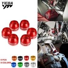 CNC อลูมิเนียมรถจักรยานยนต์ Universal Billet Bleed วาล์วฝาครอบชุดสำหรับ Ducati DIAVEL 1200 1260 1260S อุปกรณ์เสริม XDIAVEL 1262 1262S