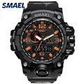 Военные часы мужские армейские SMAEL водонепроницаемые спортивные часы цифровой светодиодный ударопрочный кварцевые часы 1545B военные камуфл...