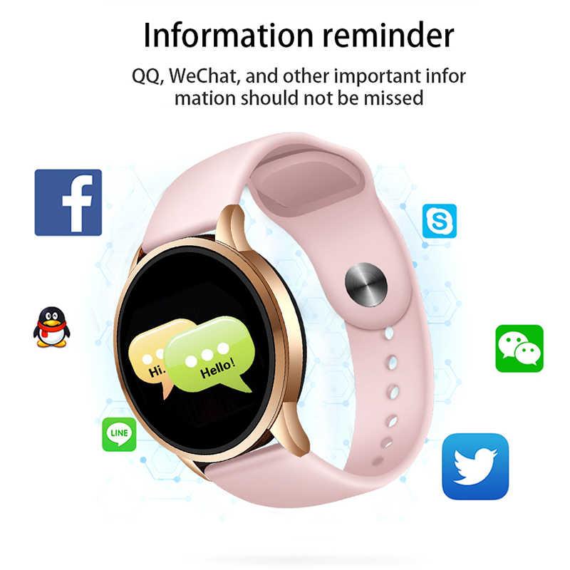 ליגע גבירותיי חכם שעון נשים לחץ דם קצב לב צג גשש כושר ספורט חכם להקת שעון מעורר תזכורת Smartwatch