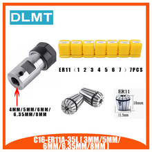 7 adet yüksek karbonlu çelik ER11 yaylı yüksük 1/2/3/4/5/6/7mm ER11A uzatma çubuğu Motor şaftı HolderInner 4MM 5MM 6MM 6.35 8MM
