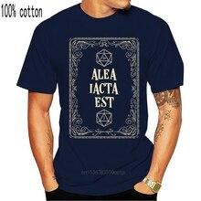 Alea Iacta Est The Die Is Cast D20 Dice футболка с уникальным рисунком, забавная футболка, весенняя, о-образный вырез, знаменитый, однотонный Shirt2021 High