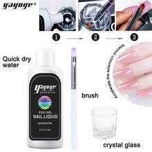 Yayoge Slip Oplossing Poly Nail Gel Permanente Vloeibare Geurloos Alcohol Clear Acryl Vloeistof Voor Nagel Nail Art Gereedschap