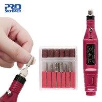 Prostormer 5 cores mini gravador mini broca 100 v 240 v elétrica escultura caneta mini polonês manicure máquina de broca moedor da arte do prego|Furadeiras elétricas| |  -