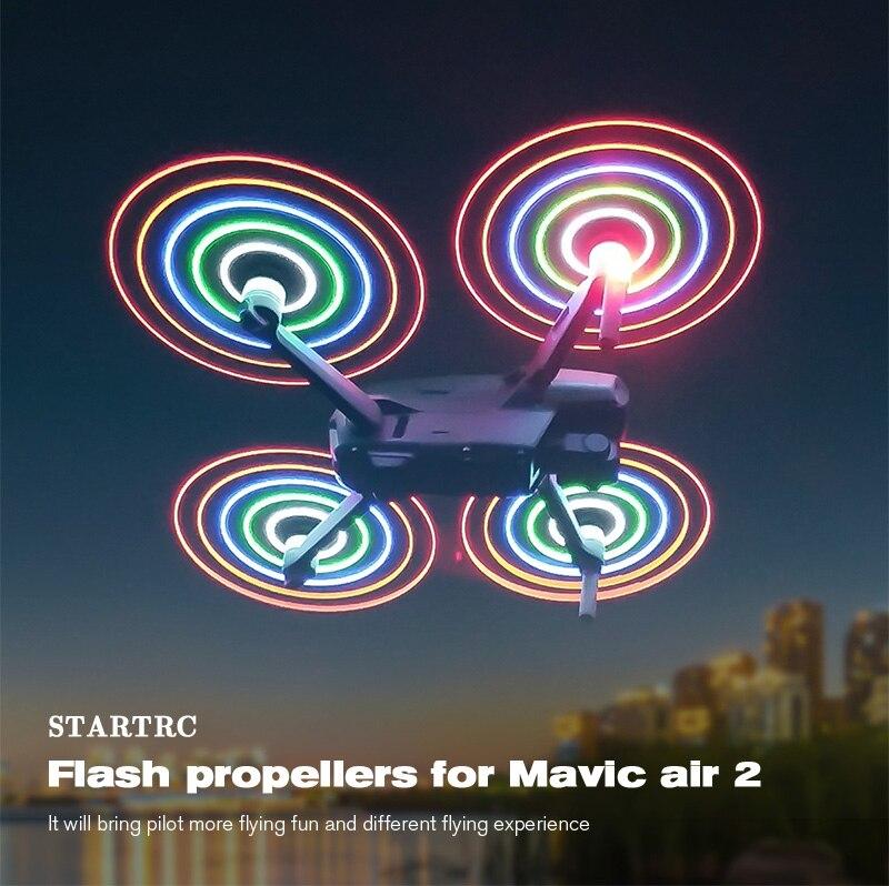 2 4Pcs LED Flash Propeller Mavic Air 2 Quick Release Blade Props for DJI Mavic Air 2 Drone Accessories