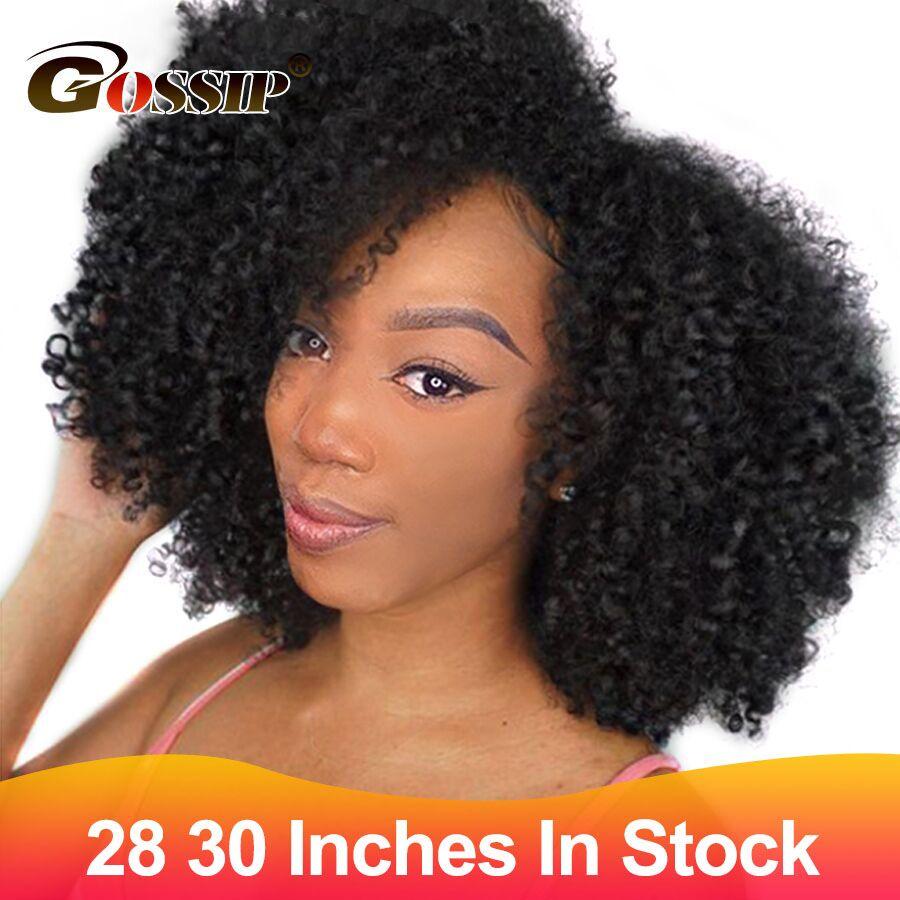 30 pouces en Stock cheveux brésiliens armure paquets Afro crépus bouclés cheveux paquets 100% vrais cheveux humains paquets Non Remy Extension de cheveux
