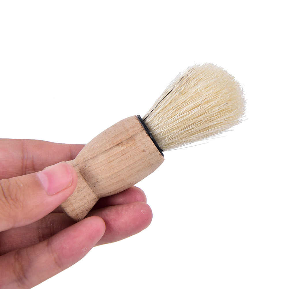 Professionele Houten Handvat Badger Haar Baard Scheren Borstel Voor Beste Mannen Vader Gift Snor Kapper Tool Facial Voor Salon