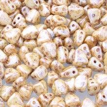 Taidian – perles en Verre tchèque 6x5mm, deux trous en forme De Triangle, 3/5 grammes/sac, Bracelets pompon d'art moderne