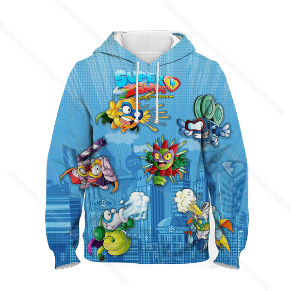 Kids 3D Print Super Zings Hoodie Autumn Winter Children Superzings 6 Series Sweatshirt Sudadera Boy Girl Cartoon Anime Pullover 8