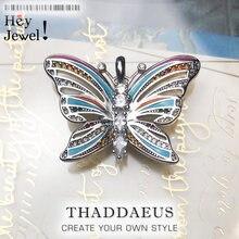 Colgantes de mariposa Tropical para mujer, joyería de verano, Bohemia, Plata de Ley 2020, colorida, accesorios de jungla, regalo para mujer 925