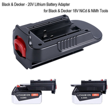 Battery Convertor Adapter For Black Decker 18V Tool Convert For Porter Cable 20V Lithium Battery LBXR2020 18V NiCad NiMh Battery fast charger replacement for porter cable 20v max lithium ion battery and black