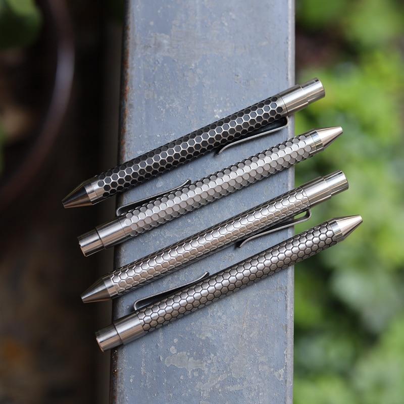 Mack Walker Titanium Alloy  Ballpoint Click Pen  Tactical Mechanical Pen  EDC Pen