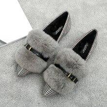 SWYIVY ฤดูหนาวรองเท้าผู้หญิง Furry รองเท้าแตะ 2019 ใหม่ Loafers สุภาพสตรี MOCCASIN รองเท้าผู้หญิงแฟลตรองเท้า Loafer สตรี