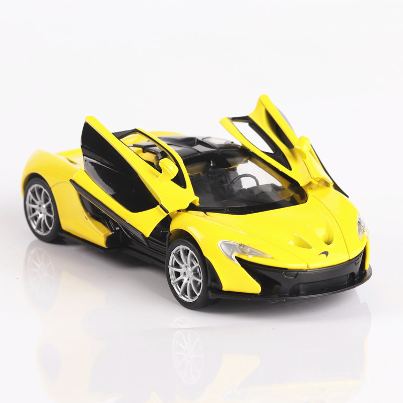 Diecast 1:32 Mclaren P1 Alloy Toy Car Model Toy Sound Light Pull Back Toy Car Kids Toys Model Trucks Hot Wheel Vw Model Thomas
