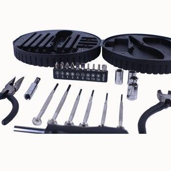 نيابة عن طقم أجهزة منزلية إطارات إبداعية 25 قطعة متعددة الوظائف الأجهزة صندوق أدوات