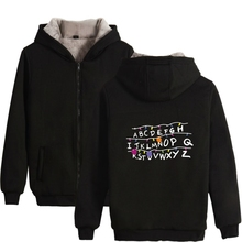 Stranger Things Winter Thick Cap Zipper Hoodies Men Coat Men/Women Montauk 2 Hoodie Sweatshirts