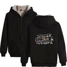 Stranger Things Winter Thick Cap Zipper Hoodies Men Coat Men/Women Montauk Stranger Things 2 Hoodie Sweatshirts цена и фото
