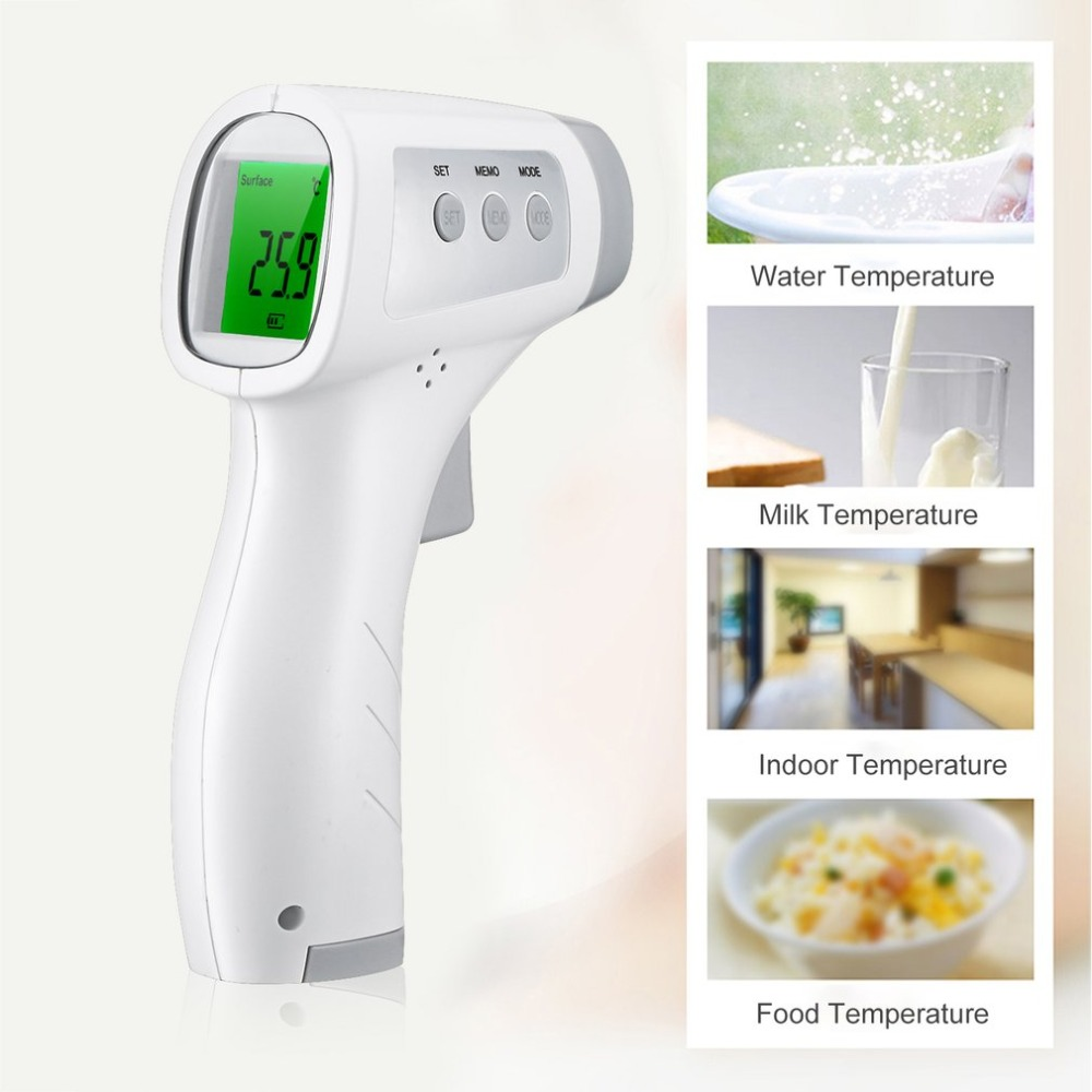 Non-contact Thermometer LCD Display Laser Digital Frontal Handheld Infrared Fevers forehead temperature gun for Baby Adult