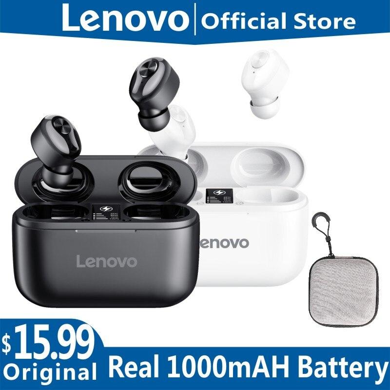 Новые беспроводные Bluetooth-наушники Lenovo HT18 V5.0 с регулятором громкости, стереонаушники HD, говорящие, водонепроницаемые IPX5, для спорта