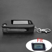 A93 switchblade caso chave para o alarme de carro starline a93 a63 a39 lâmina sem corte fob caso capa dobrável flip carro remoto + chaveiro vidro