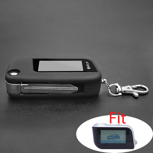 A93 switchblade key case for car Alarm starline A93 A63 A39 uncut blade fob case cover folding car flip remote+Keychain glass(China)