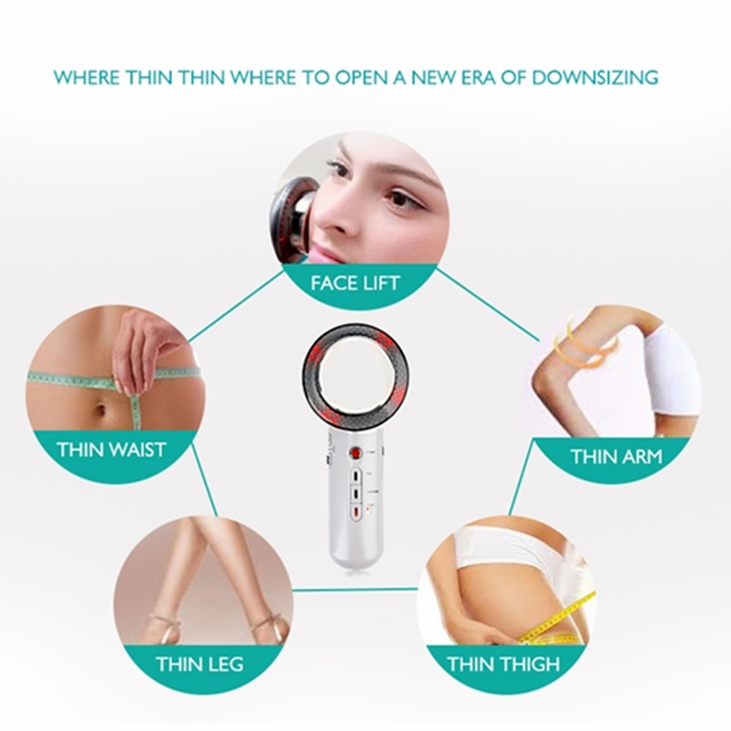 Image 4 - 3in1 Ultrasound Face Body Massager EMS Infrared Heat Therapy Facial Lifting Body Slimming Cavitation Machine Radiofrequency ToolFace Skin Care Machine   -